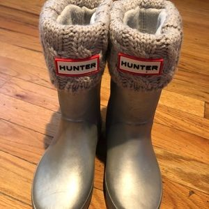 Hunter rain boots with winter inserts